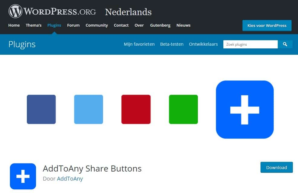 AddToAny WordPress plugin