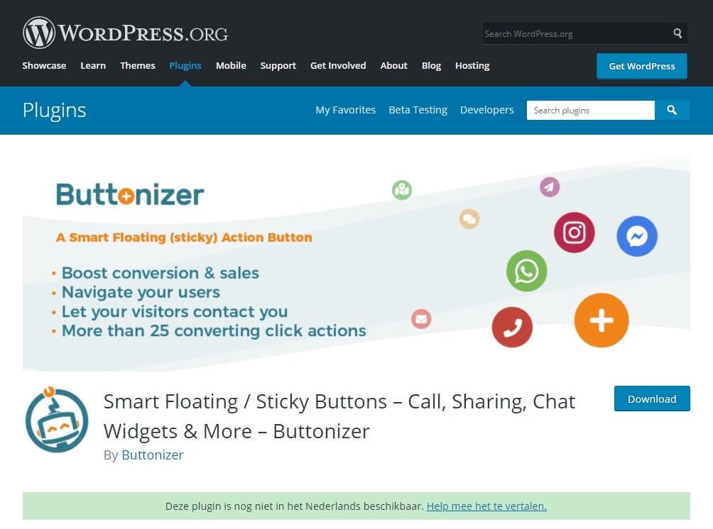 Buttonizer WordPress plugins