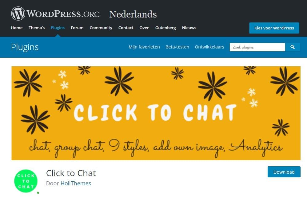 Click to Chat WordPress WhatsApp