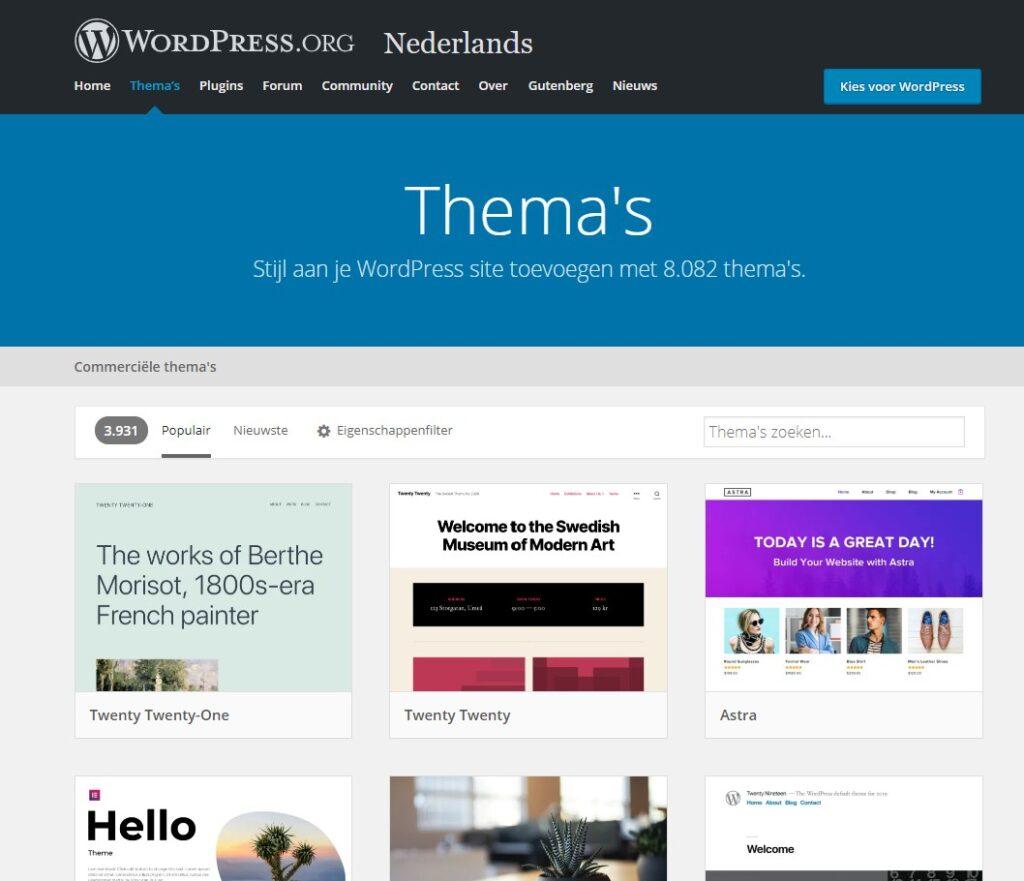 WordPress Thema's