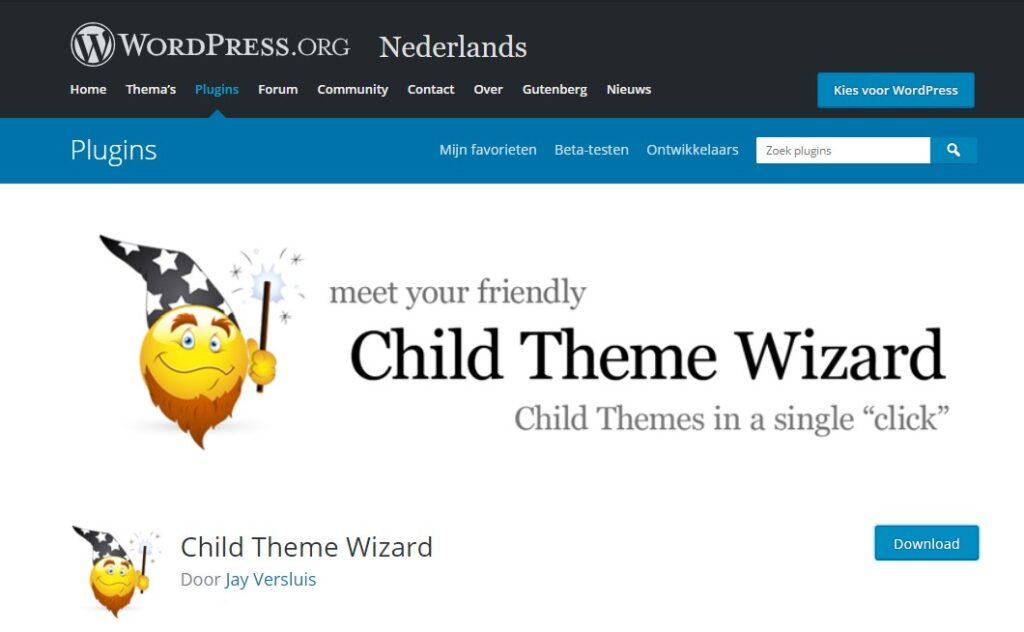 Child Theme Wizard plugin WordPress