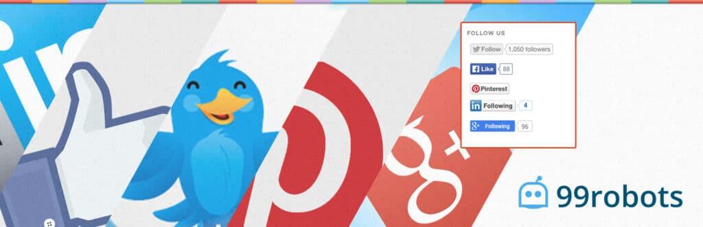 Follow us badges WordPress plugin