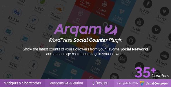 Social counter Arqam WordPress Plugin