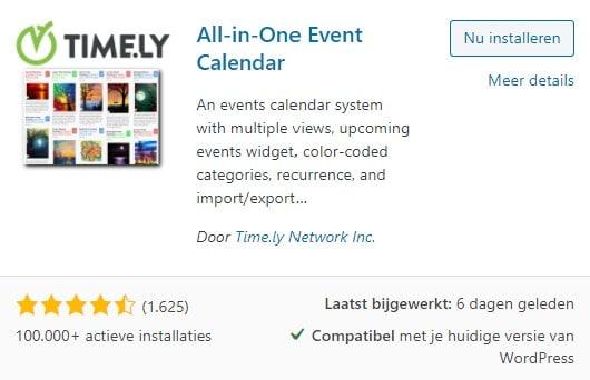 WordPress All in one Event Calendar plugin