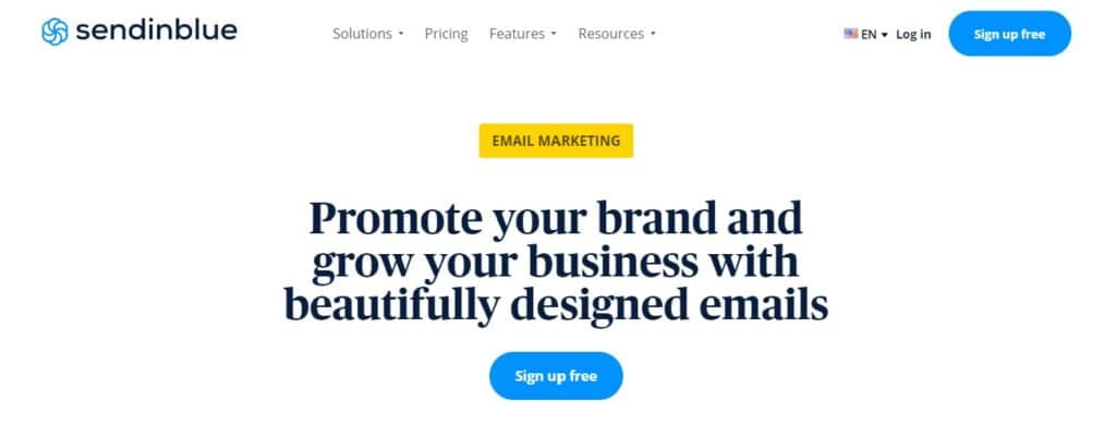 Send in blue banner WordPress