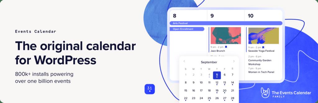 The Events Calendar plugin WordPress
