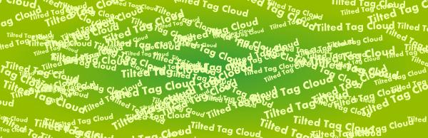 Tilted tag Cloud plugin WordPress