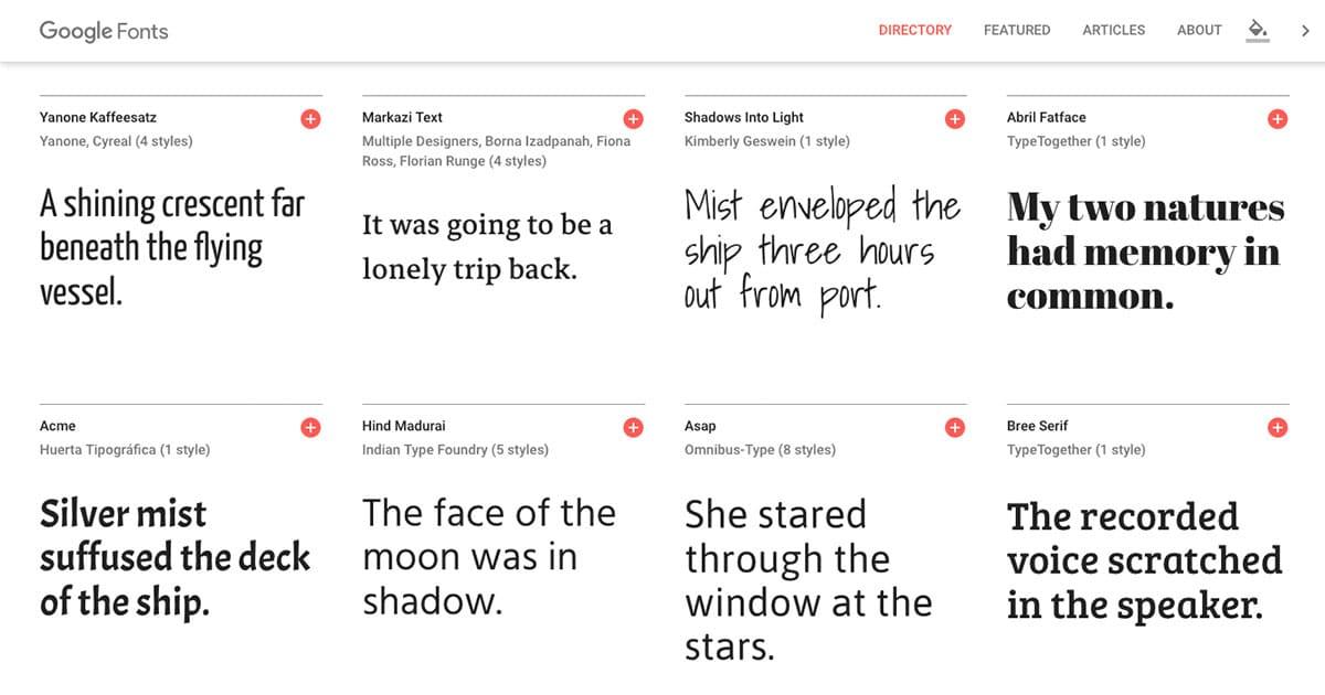 Afbeelding Google Fonts gebruiken op je WordPress website