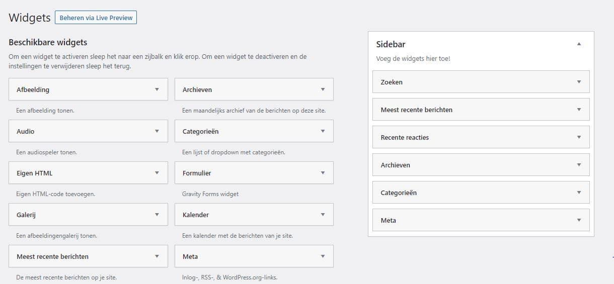 Afbeelding WordPress sidebar maken, toevoegen & aanpassen